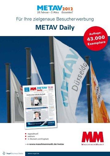 METAV Daily 2012, deutsch - Vogel Business Media