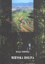 Mirnska dolina Regionalna geografija pore~ja Mirne na Dolenjskem