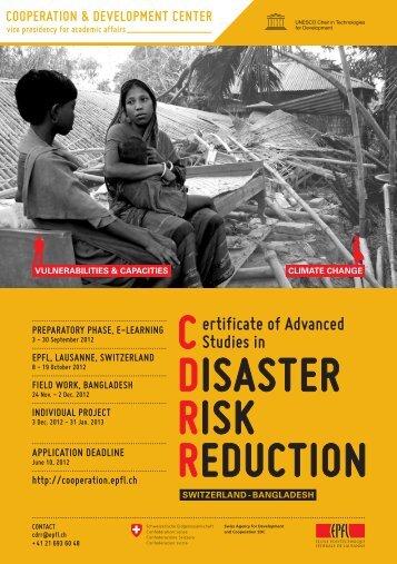 CDRR 2012 Program Brochure.pdf - Cooperation at EPFL