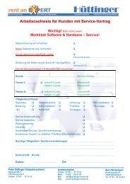 Merkblatt Software & Hardware – Service