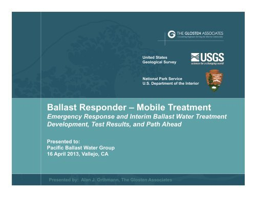 Ballast Responder – Mobile Treatment - Pacific States