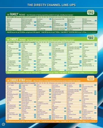 Directv guide printable channel pdf