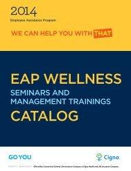 Wellness Seminars and Management Training Catalog