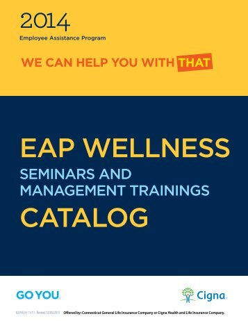 Wellness Seminars and Management Training Catalog