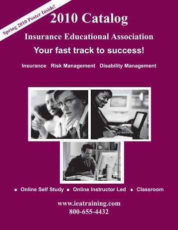 2010 Catalog.pmd - Insurance Educational Association