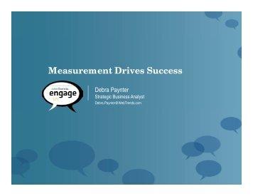Measurement Drives Success