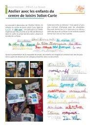 Atelier avec les enfants du centre de loisirs Joliot ... - Ville de Montreuil