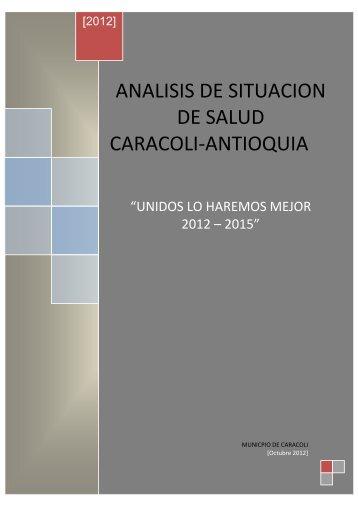 ACTUALIZACIÓN DEL DIAGNÓSTICO AÑO 2007 - Caracolí