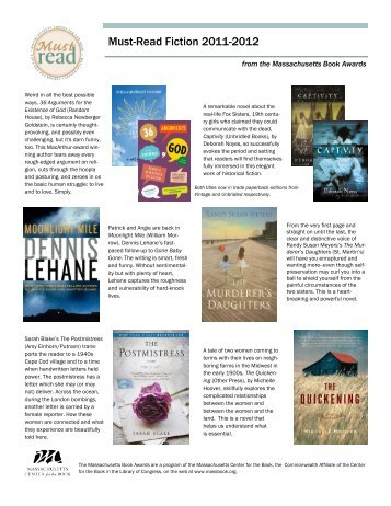 Must-Read Fiction 2011-2012 - Massachusetts Center for the Book