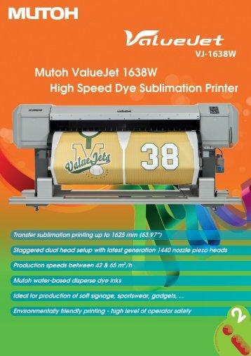 Mutoh ValueJet 1638W High Speed Dye Sublimation Printer - Sesoma