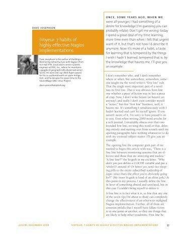 iVoyeur: 7 habits of highly effective Nagios implementations
