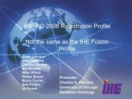 Registration Profile - IHE Wiki