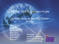 Registration Profile - IHE Wiki