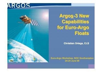 13-Ortega ARGOS-3 New capabilities for Euro-Argo floats