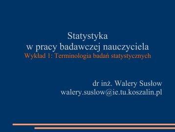 Terminologia badań statystycznych - Koszalin