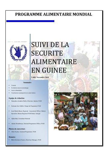 SUIVI DE LA SECURITE ALIMENTAIRE EN GUINEE