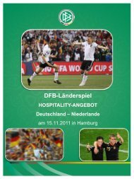 DFB-Länderspiel HOSPITALITY-ANGEBOT Deutschland - HSV