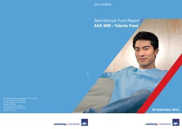 Semi-Annual Fund Report - AXA Life Insurance Singapore