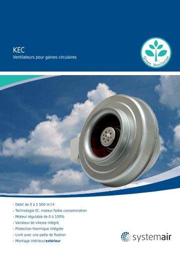 Ventilateurs pour gaines circulaires - Systemair