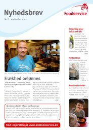 September 2007 - Arla Foodservice