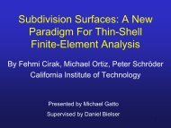 Subdivision Surfaces: A New Paradigm For Thin-Shell Finite ...