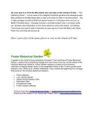 Foster Botanical Garden - Sterling Tours