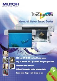 ValueJet Water Based Series - Mutoh