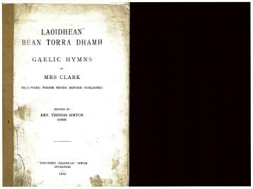 LAOIDHEAN BEAN TORRA DHAMH