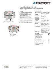High Displacement Diaphragm Seal Types 702 ... - Temp-Press Inc
