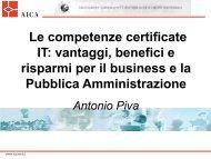 Le competenze certificate IT: vantaggi, benefici e risparmi per ... - Aica