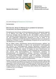 Medienservice Sachsen - Pressemitteilung - Studieren in Sachsen