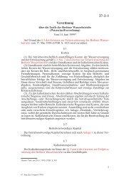 Verordnung über die Tarife der Berliner ... - attac Marburg