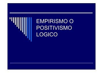 EMPIRISMO O POSITIVISMO LOGICO – Hecho Histórico