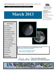 2013 March Newsletter - Bullitt County Cooperative Extension
