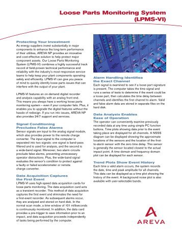 Loose Parts Monitoring System (LPMS-VI) (pdf) - AREVA NP Inc.