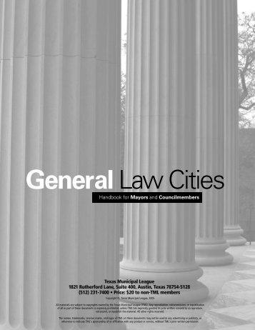 General Law 05 - Texas Municipal League