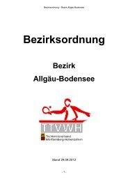 Bezirksordnung - TTVWH Bezirk Allgäu-Bodensee
