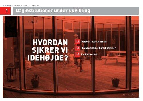 ModelprograM for daginstitutioner - JJW Arkitekter