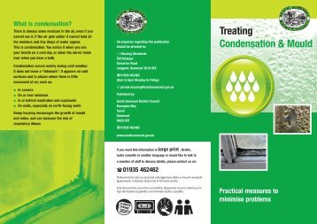 Treating Condensation & Mould - South Somerset District Council