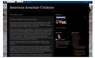 Journalist View - Indiana Cricket