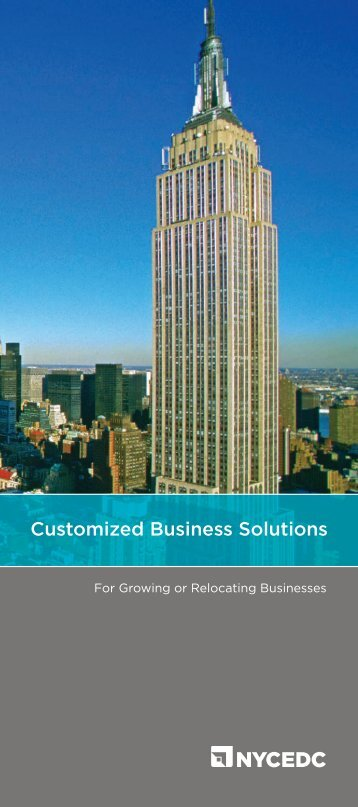 Strategic Investments Group Brochure - NYCEDC