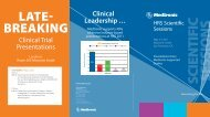 Clinical Trial Presentations Clinical Leadership … - Medtronic