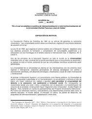 PROYECTO DE ACUERDO INTERNACIONALIZACIÓN E ... - CERI