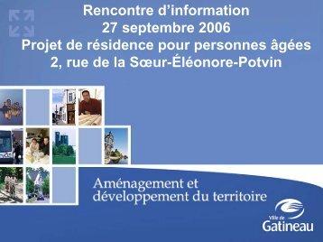 Présentation PowerPoint du 27 septembre 2006 - Ville de Gatineau