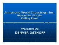 Preventing Mechanical Failure at Armstrong World - UE Systems