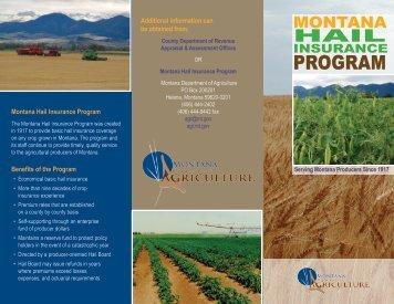 Hail Program Brochure - Montana Department of Agriculture