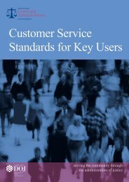 Customer Service Standards for Key Users - Northern Ireland Court ...