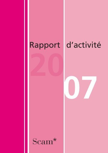 Rapport 2007 - Scam