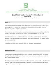 Email Platforms for Service Providers Market 2010-2014 Executive ...