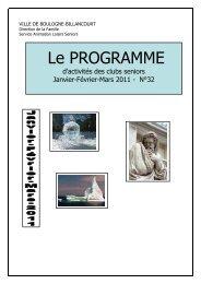 programme janvier à mars 2011 à imprimer 9 12 2010 - Boulogne ...